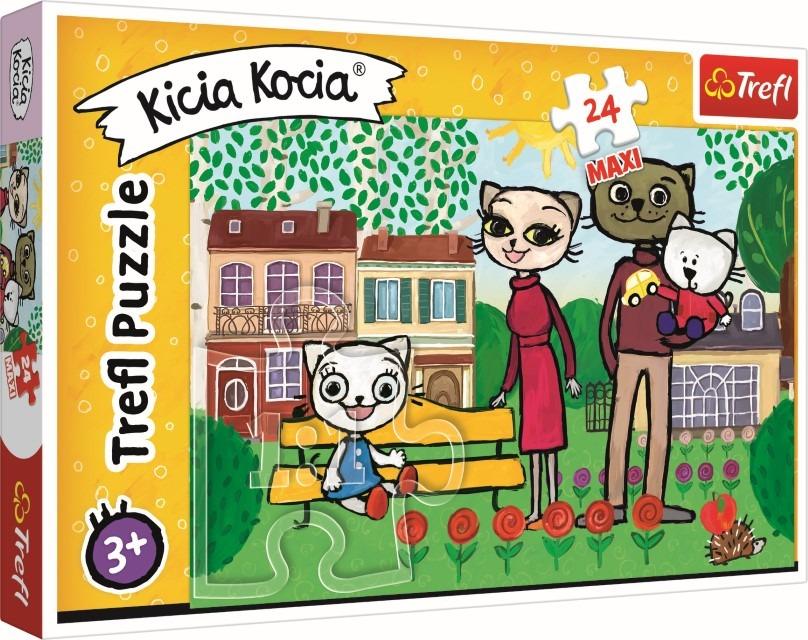 Trefl, kicia kocia, zabawy kici koci, puzzle maxi, 24 elementy Smyk 6614883