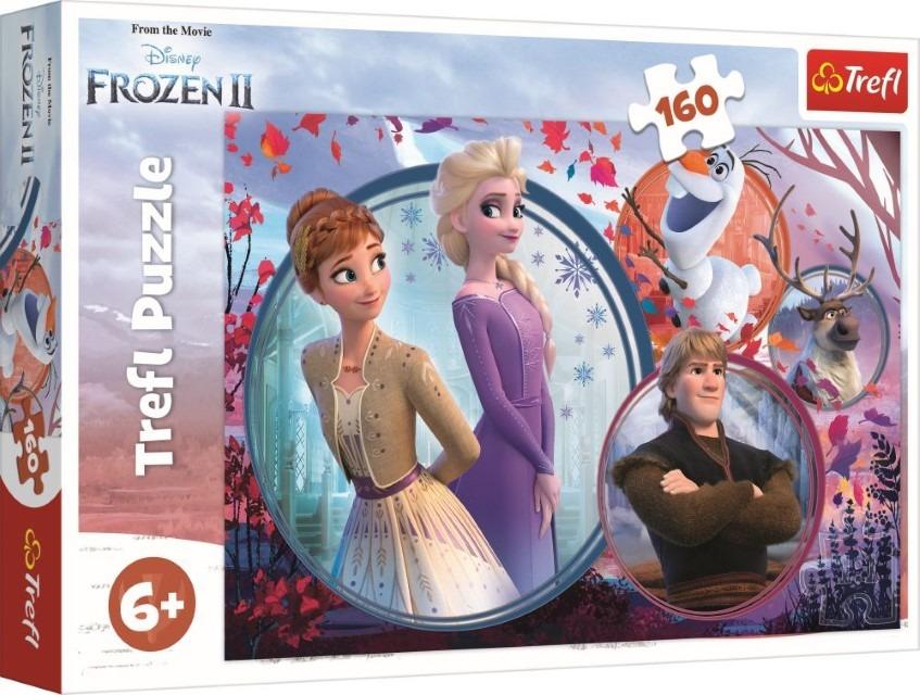 Trefl, kraina lodu, siostrzana przygoda, puzzle, 160 elementów Smyk 6536547