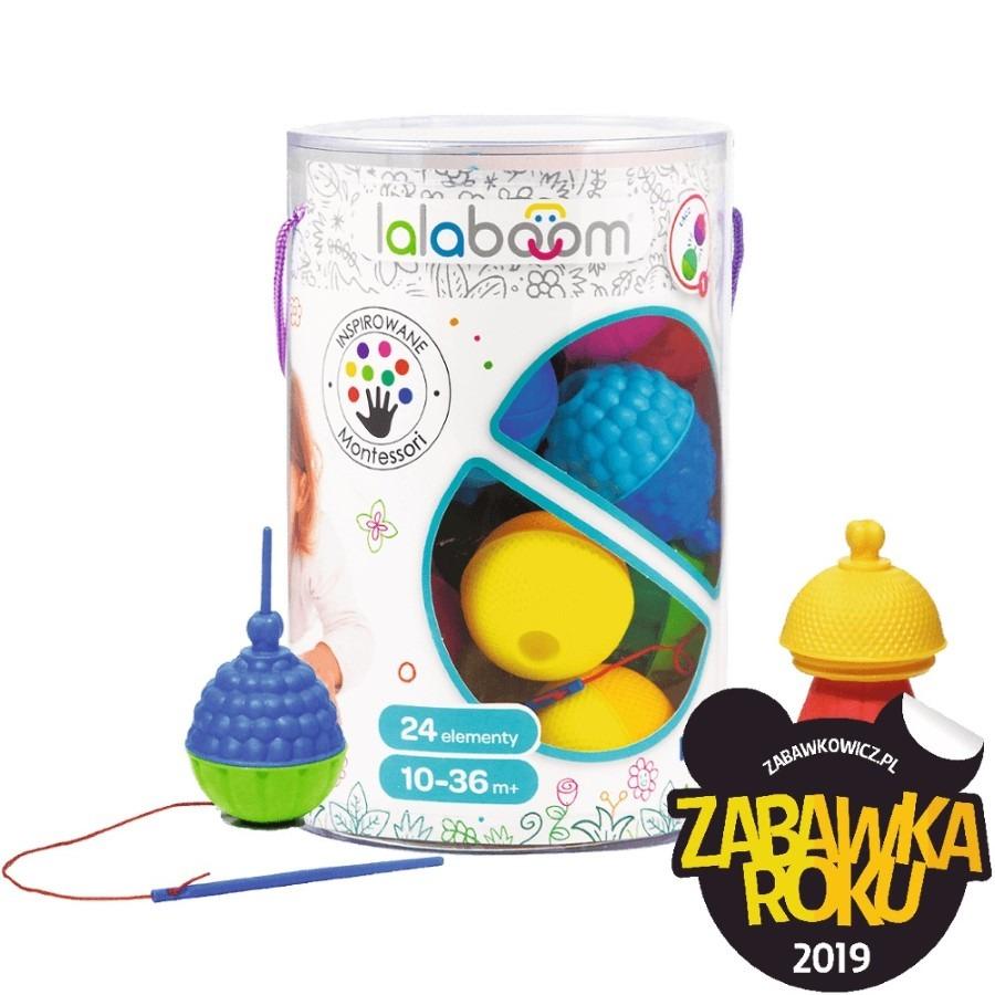 Trefl, lalaboom, kulko-klocki, zestaw sensoryczny, 24 elementy Smyk 6485286