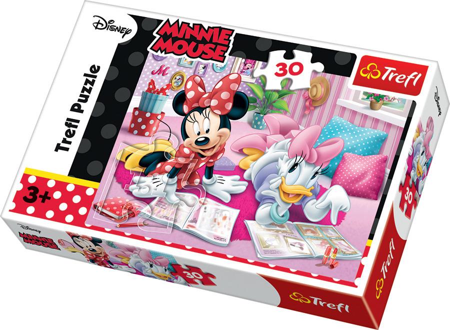 Trefl, myszka minnie, najlepsze przyjaciółki, puzzle, 30 elementów Smyk 6233450