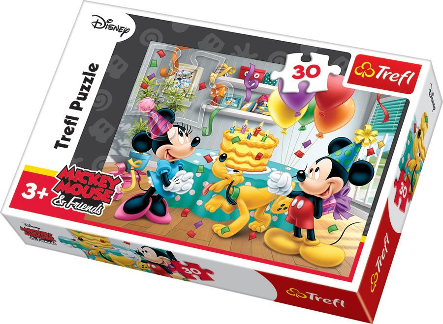 Trefl, tort urodzinowy, puzzle, 30 elementów Smyk 5979168