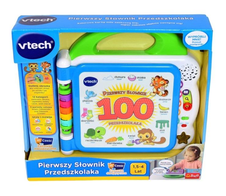 Vtech, pierwszy słownik przedszkolaka, zabawka interaktywna Smyk 6543845