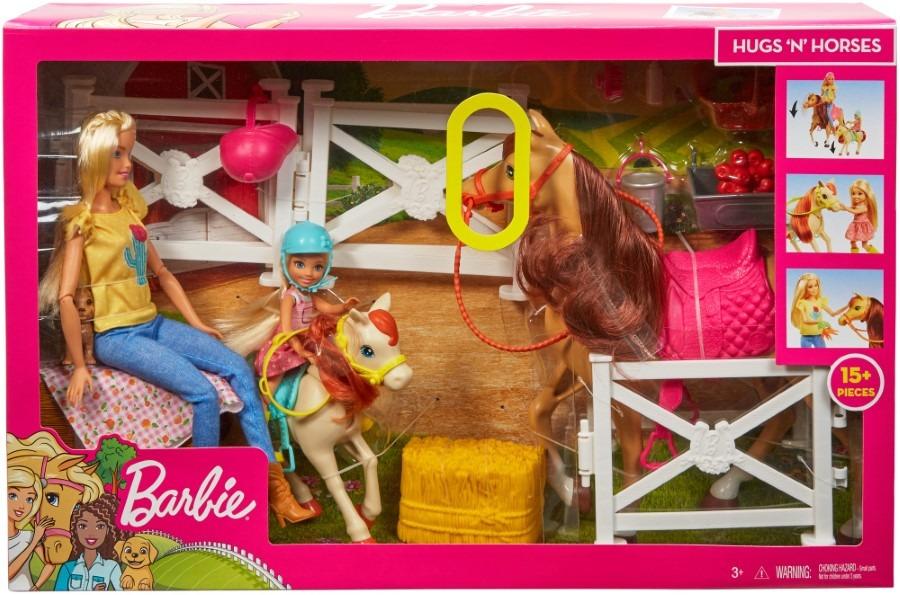 Barbie, Stadnina Koni, zestaw z lalkami i akcesoriami - smyk.com