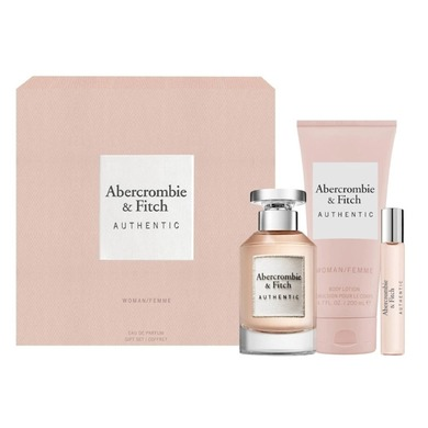 abercrombie & fitch authentic woman woda perfumowana 100 ml  zestaw