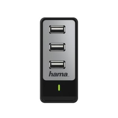 Hama, ładowarka sieciowa USB (3x USB) 230V, 5,2A