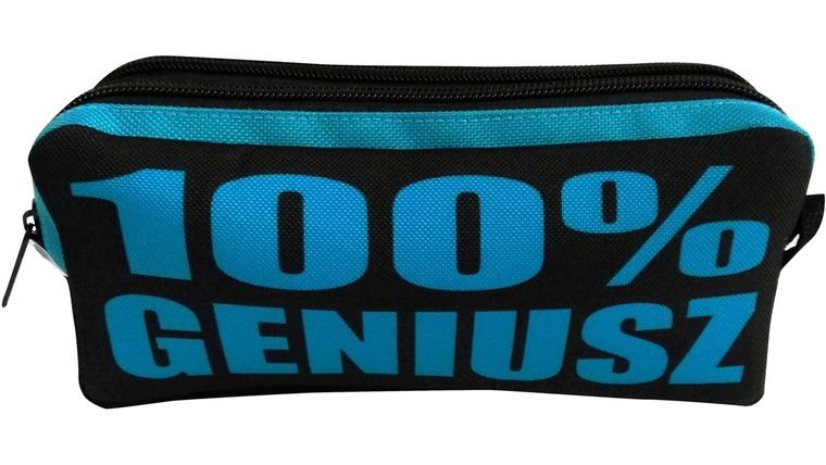 100% geniusz, piórnik dwukomorowy