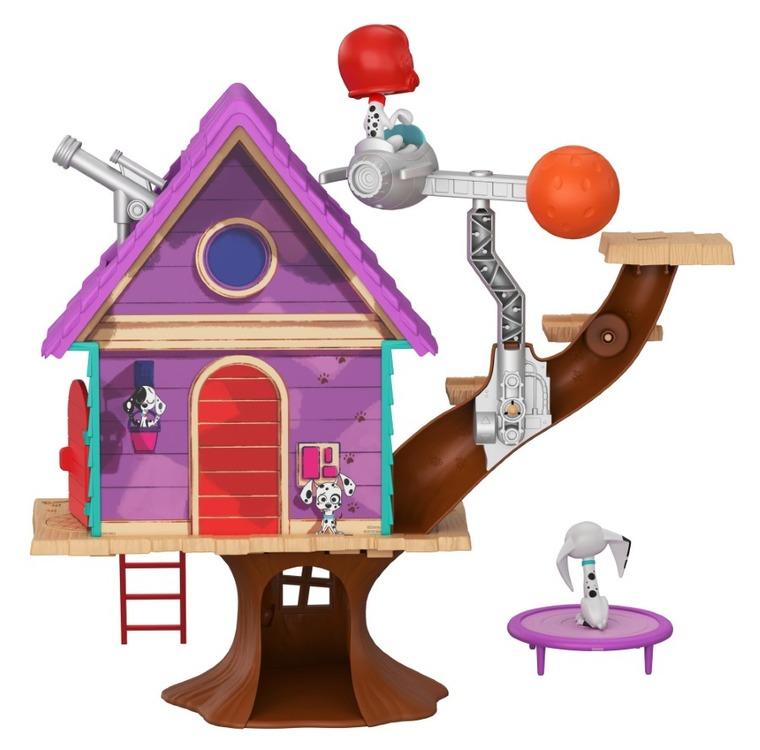 101 Dalmatyńczyków, Domek na drzewie, zestaw z figurkami i akcesoriami