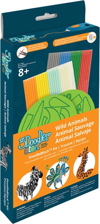 3Doodler, Dzikie zwierzęta, zestaw szablonów