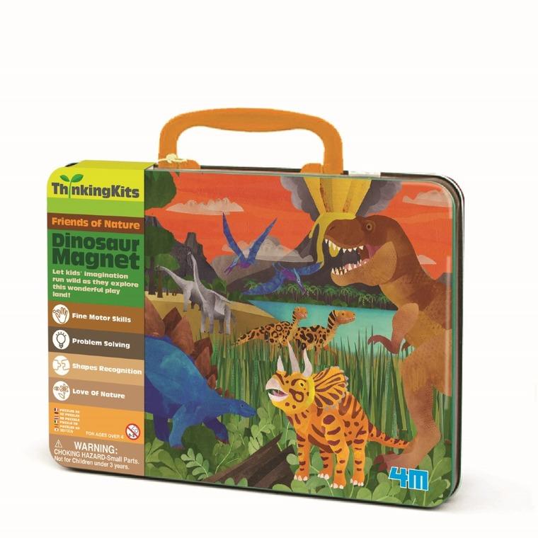 4M, Dinozaury, walizka z magnesami