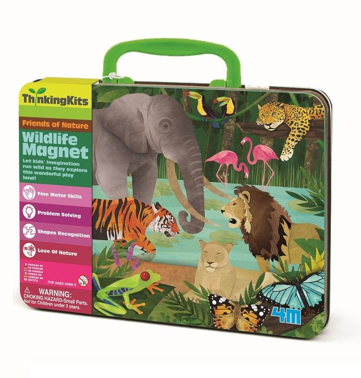 4M, Dzikie zwierzęta, walizka z magnesami