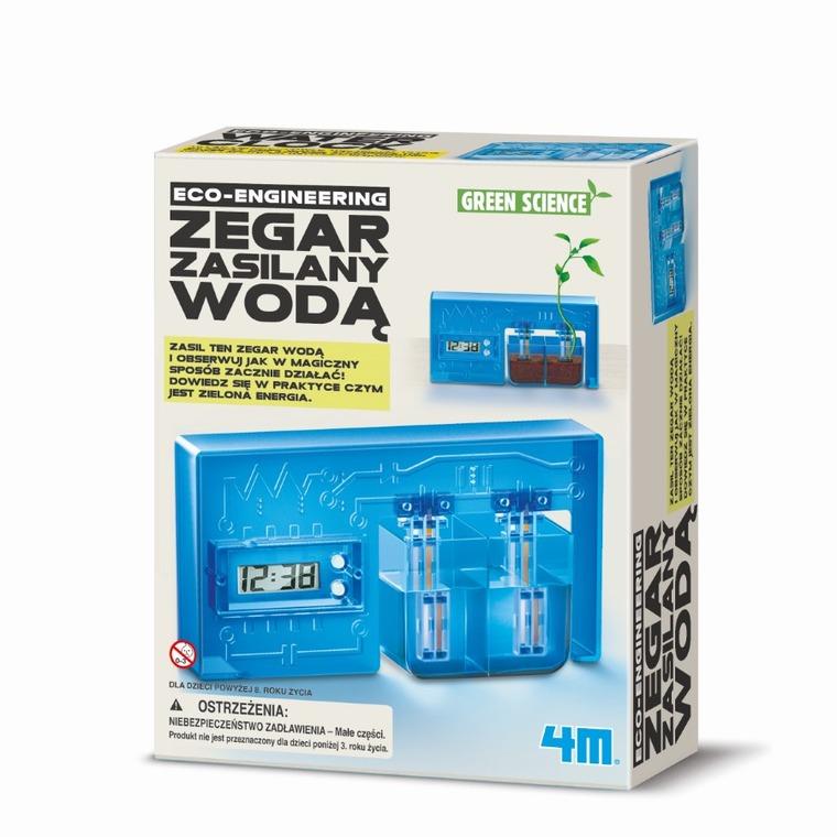 4M, Green Science, zegar zasilany wodą, zestaw edukacyjny