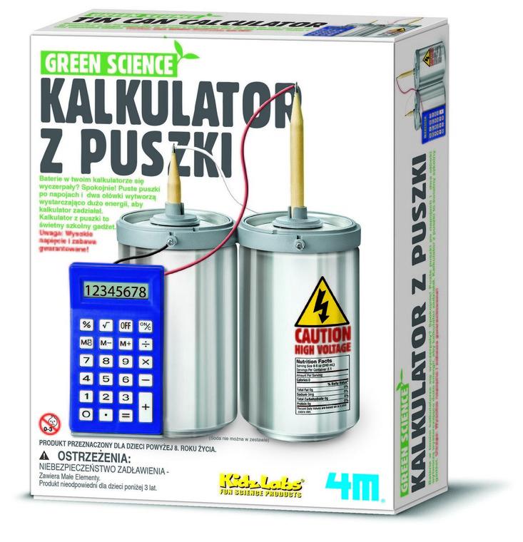 4M, Kalkulator z puszki, zestaw kreatywny