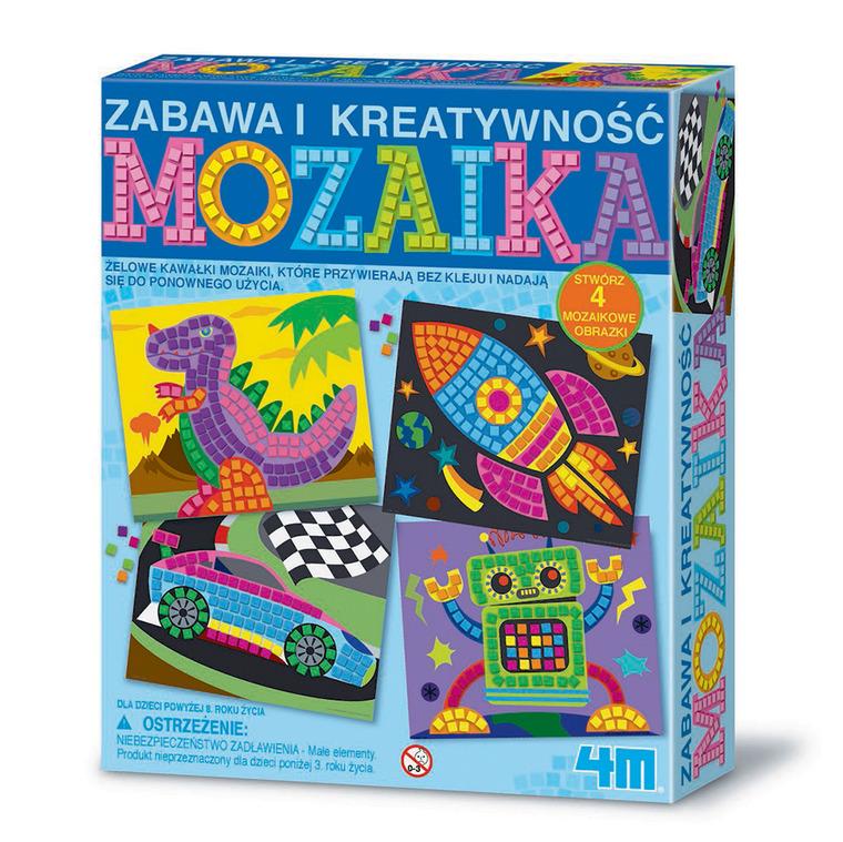 4M, mozaika dla chłopców, zestaw kreatywny