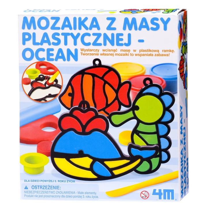 4M, mozaika z masy plastycznej - ocean, zestaw kreatywny