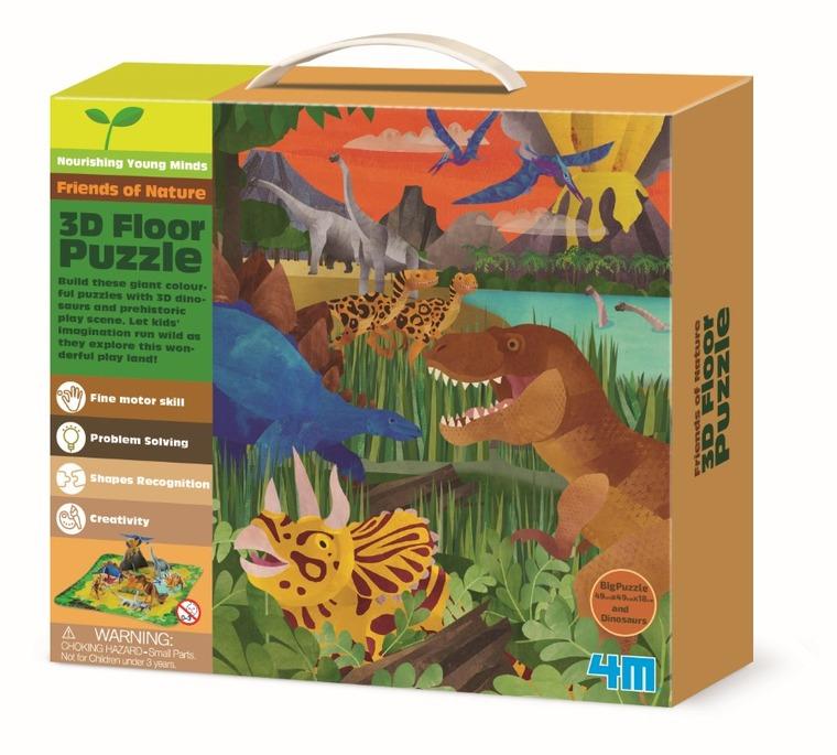 4M, Dinozaury, puzzle 3D, 9 elementów