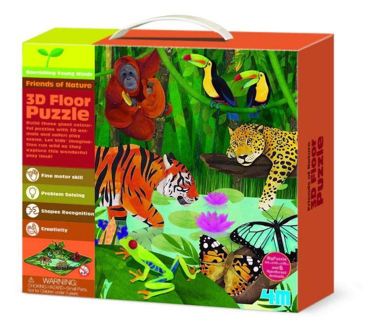 4M, Dżungla, puzzle 3D, 9 elementów