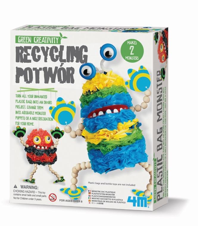 4M, recykling, potwór, zestaw kreatywny