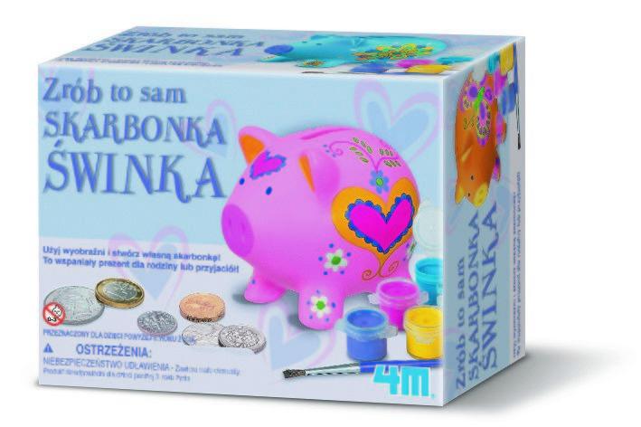 4M, skarbonka świnka, zestaw kreatywny