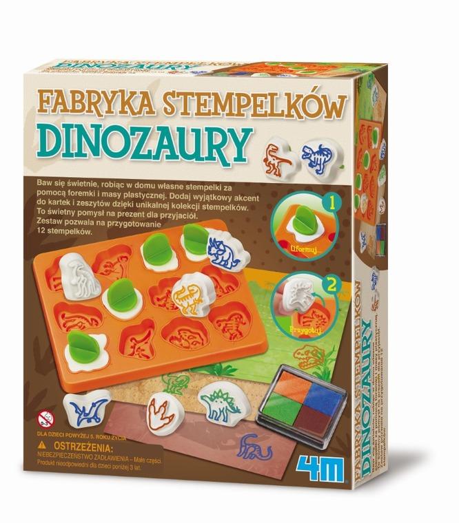 4M, Zestaw kreatywny, Fabryka stempelków- dinozaury