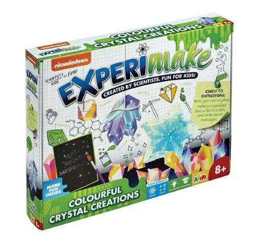 Addo, ExperiMake, kolorowe kryształy, zestaw naukowy