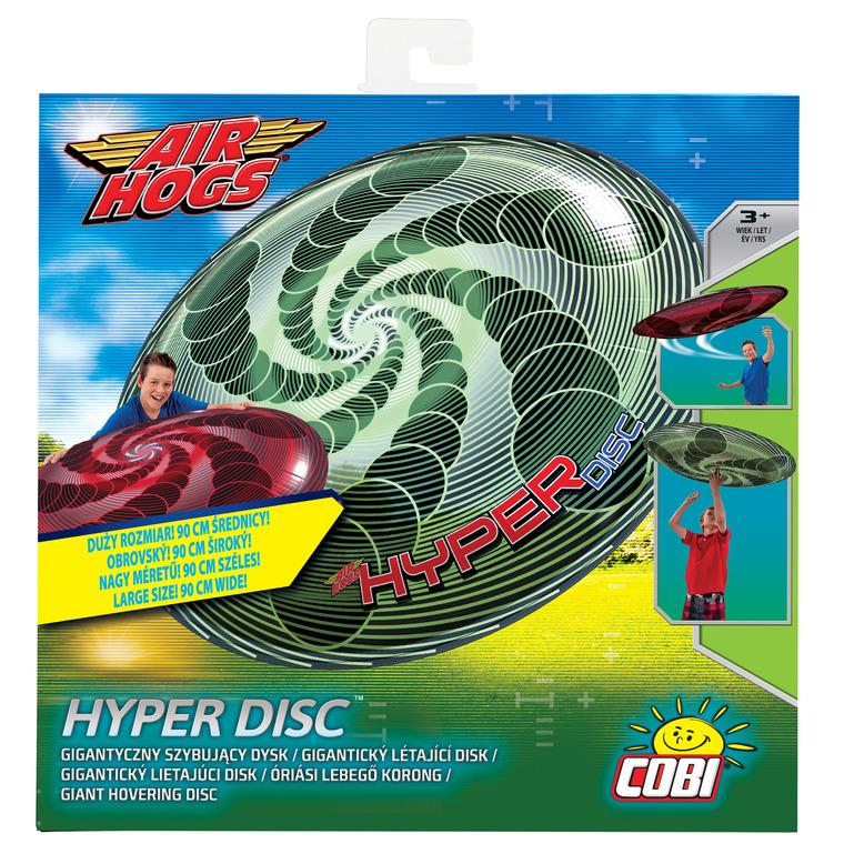 Air Hogs, Hyper Disc, latający dysk, zielona spirala