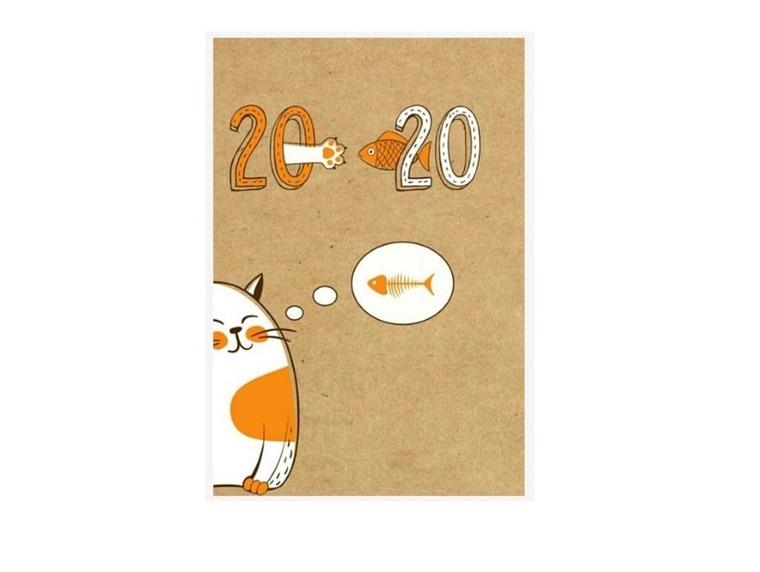 Albi, kalendarz tygodniowy 2019-2020, kot, B6