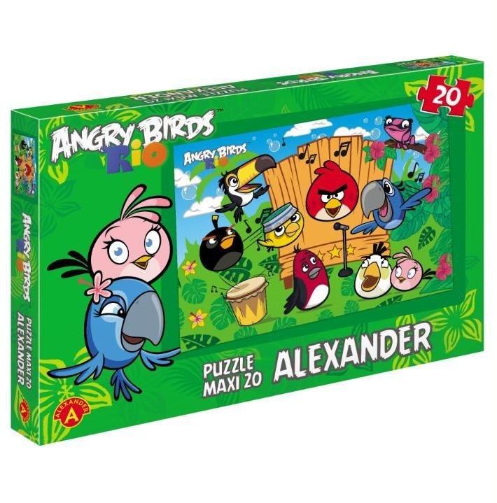 Alexander, Angry Birds Rio, Ptasi koncert, puzzle maxi, 20 elementów