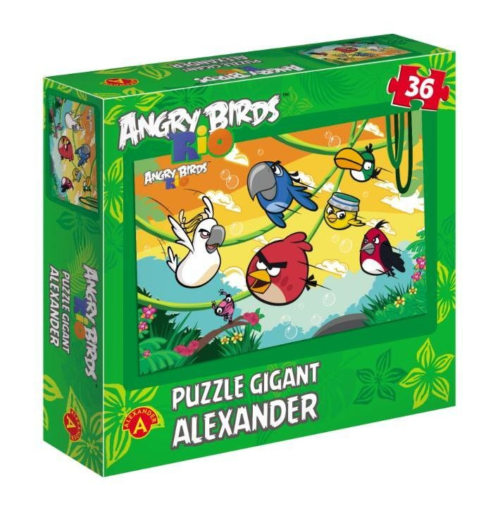 Alexander, Angry Birds Rio, puzzle gigant, 36 elementów