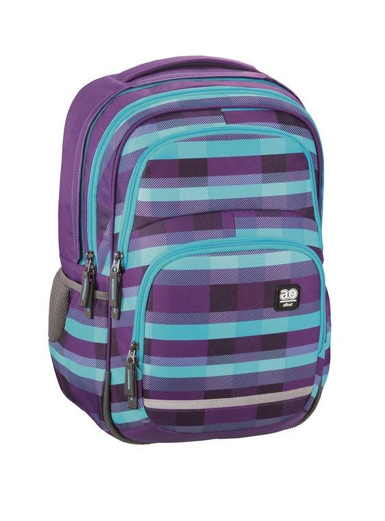 All Out, Blaby, plecak szkolny, Summer check purple