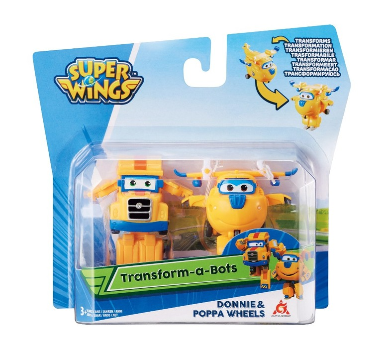 Alpha, Super Wings, Transform, zestaw 2 figurki: Donnie, Poppa Wheels