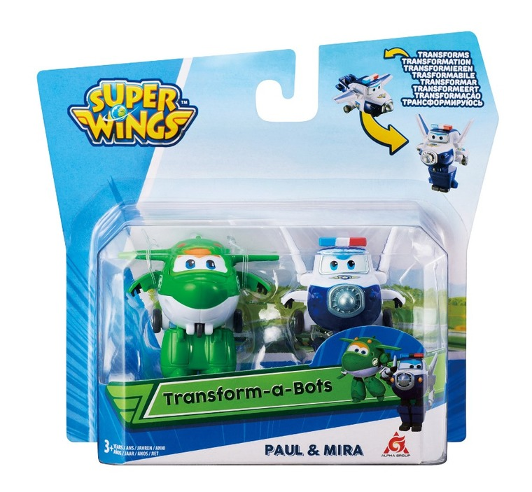Alpha, Super Wings, Transform, zestaw 2 figurki: Mira, Paul