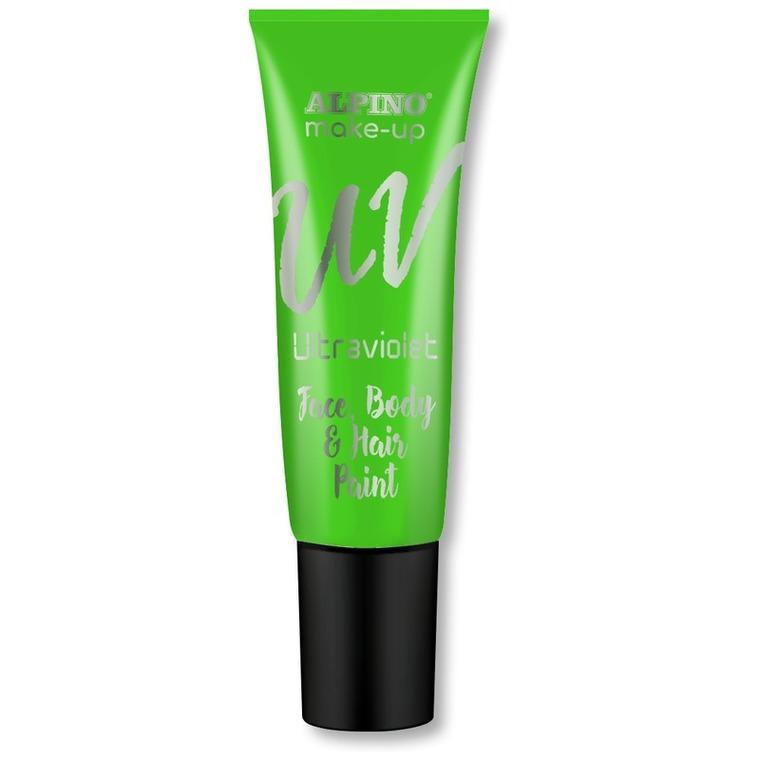 Alpino, farbka UV do malowania twarzy i ciała w tubie, zielona, 10 ml