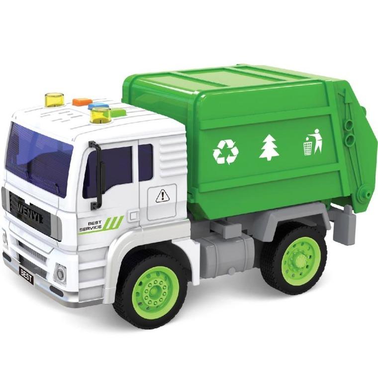 Anek dla dzieci, śmieciarka, pojazd, zdalnie starowany