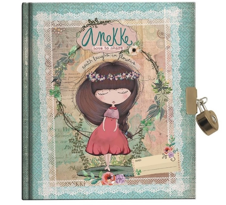 Anekke, pamiętnik A5, na kłódkę