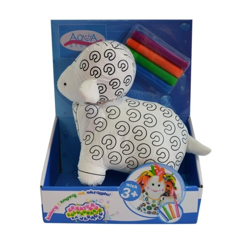 Aqua Studio, mała owieczka, maskotka do kolorowania