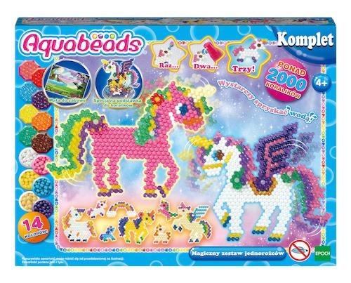 Aquabeads, zestaw Jednorożców z ruchomymi częściami, koraliki