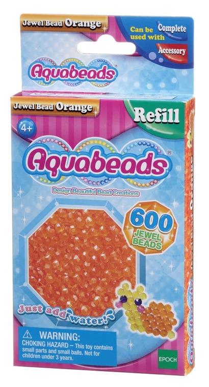 Aquabeads, Zestaw koralików-klejnocików, pomarańczowy