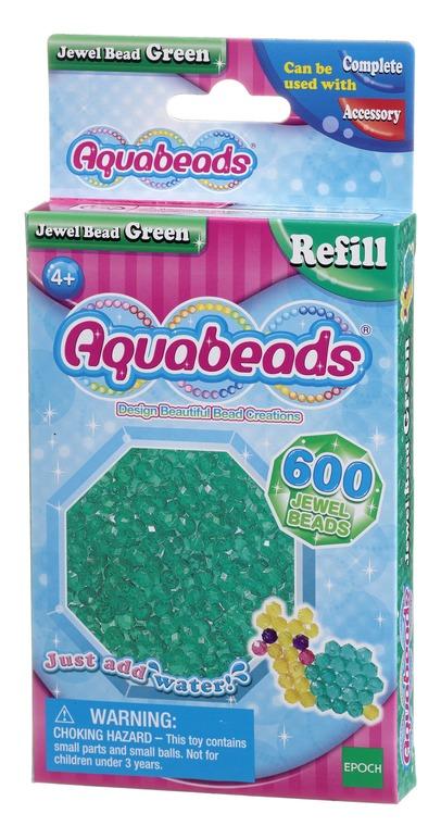 Aquabeads, Zestaw koralików-klejnocików, zielony