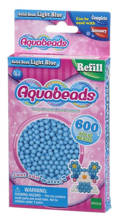 Aquabeads, Zestaw litych koralików, jasnoniebieski