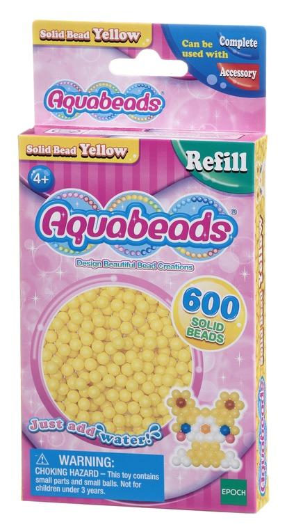 Aquabeads, Zestaw litych koralików, żółty