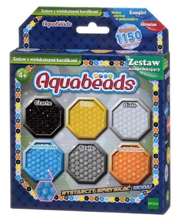 Aquabeads, zestaw z wielokątnymi koralikami