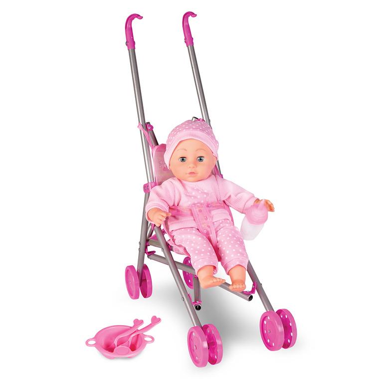 Artyk, Natalia, bobas z wózkiem, lalka, 36 cm
