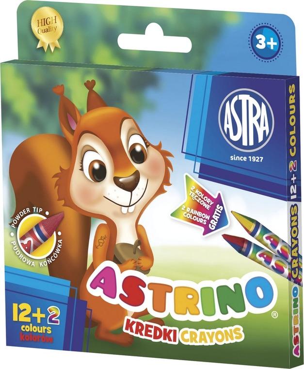 Astra, kredki Astrino, 12 + 2 kolory gratis