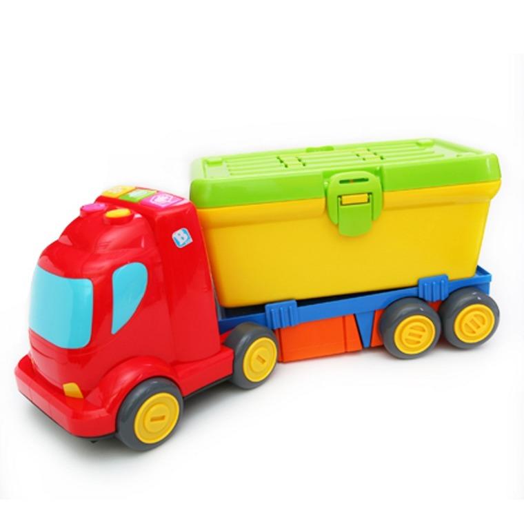 B-Kids, Duże grające auto z warsztatem, zabawka interaktywna