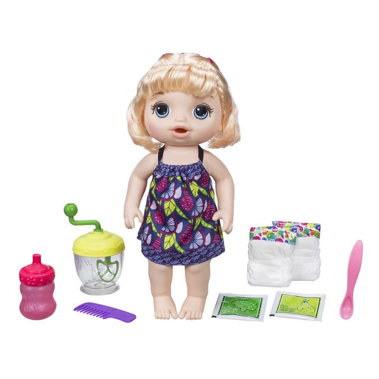 Baby Alive, Słodka przekąska, lalka bobas interaktywna z akcesoriami, blondynka