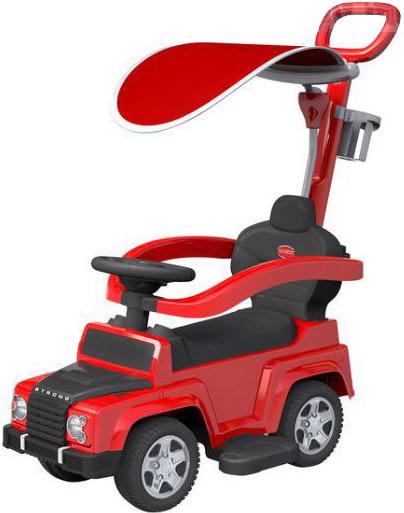 Baby Mix, pojazd odpychany dla dzieci 2w1, off-road z daszkiem, czerwony