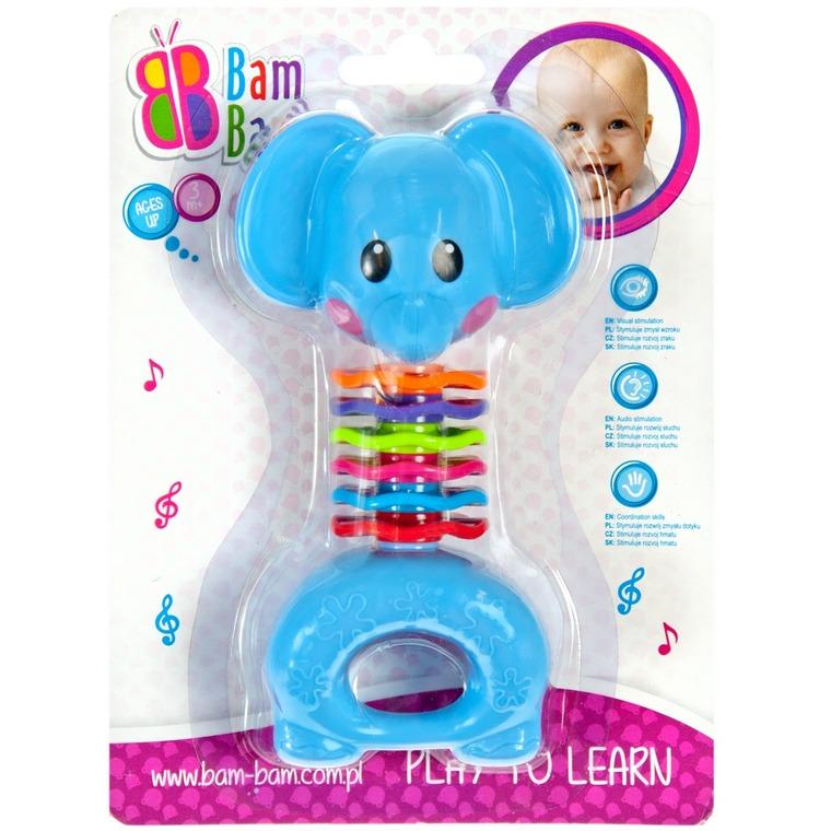 BamBam, słonik, grzechotka