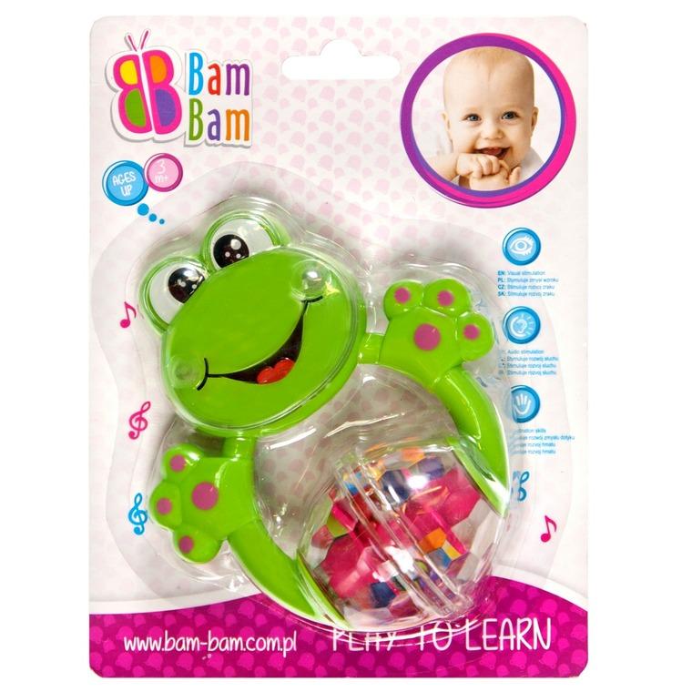 BamBam, żaba, grzechotka