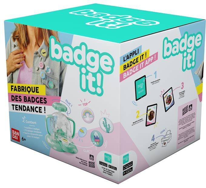 Bandai, Badge It!, maszyna do znaczków i przypinek