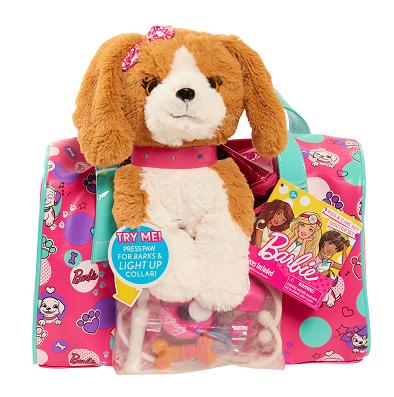 Barbie, Szczeniaczek + torba opiekunki zwierząt, pink